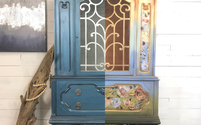 The perfect metallic blue for your china hutch