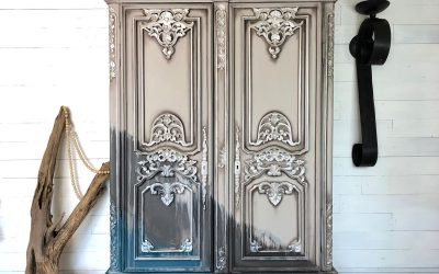 Water washed gray armoire: boho whimsy to neutral chic