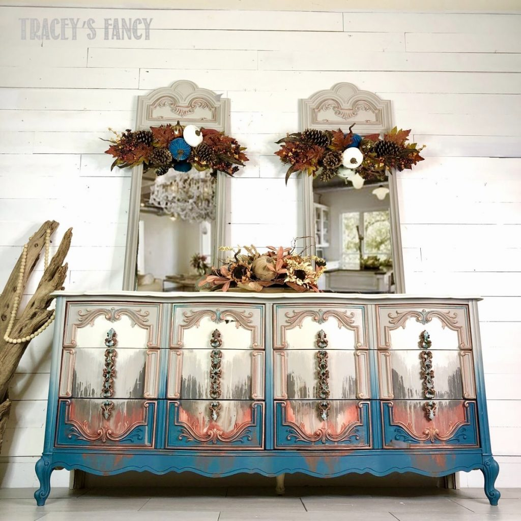 Water washed dresser by Traceys Fancy