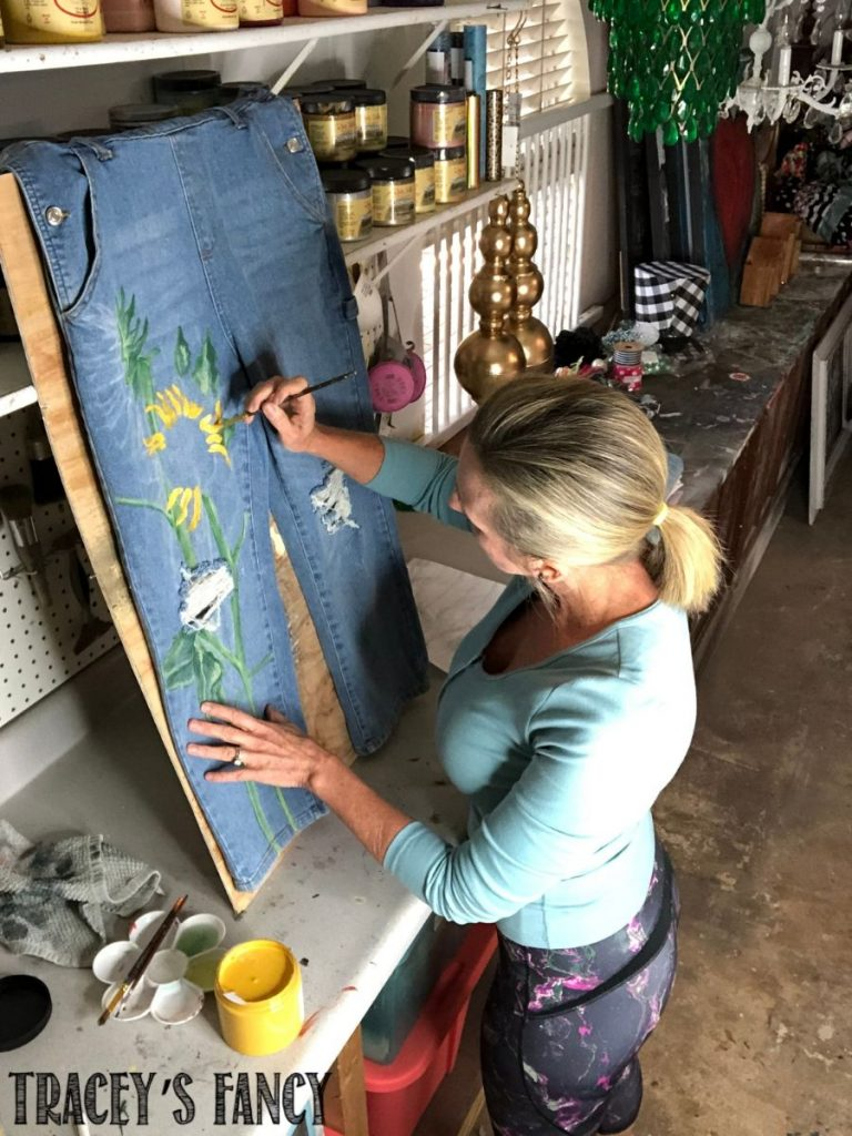 The Art of Painted Denim   Tracey's Fancy