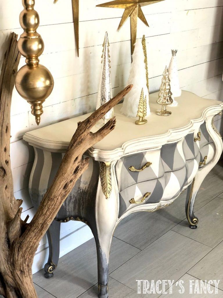 Neutral whimsy with a touch of grunge bombay chest by Tracey's Fancy