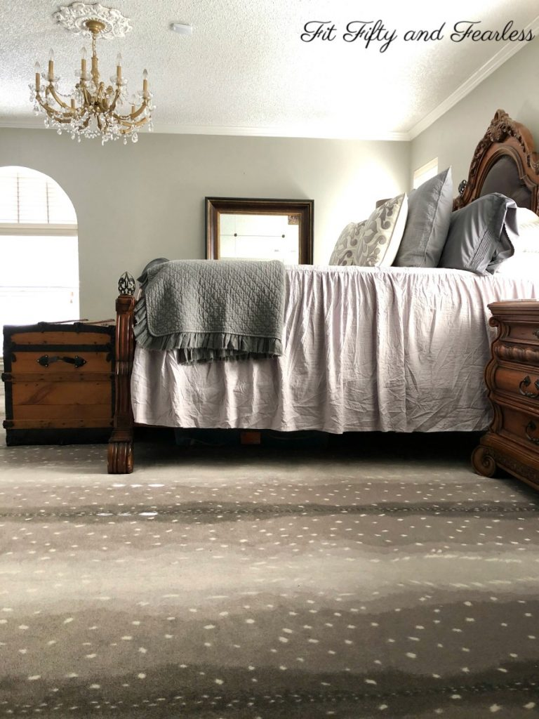 Bed making made easy with ruffled bedspread | Fit Fifty and Fearless
