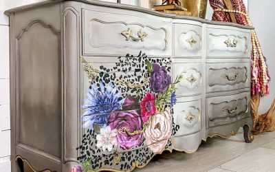 Leopard Floral Dresser: fun and sophisticated