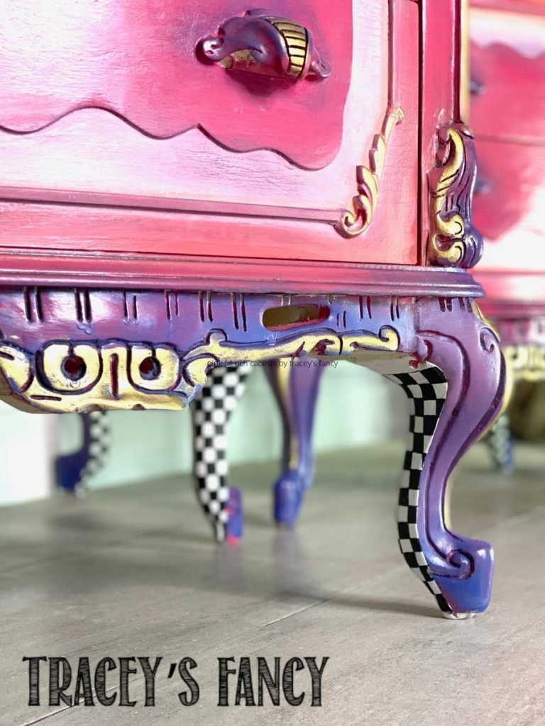 whimsical pink princess nightstands by Tracey's Fancy