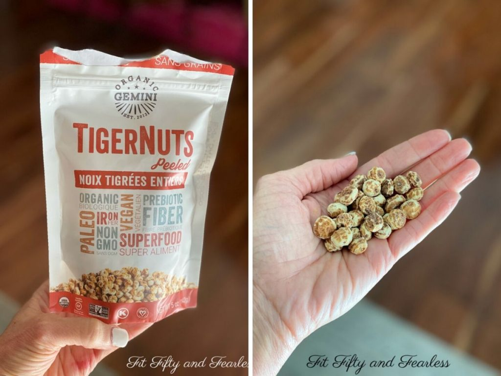 peeled tiger nuts | FitFiftyandFearless.com | Tracey Bellion