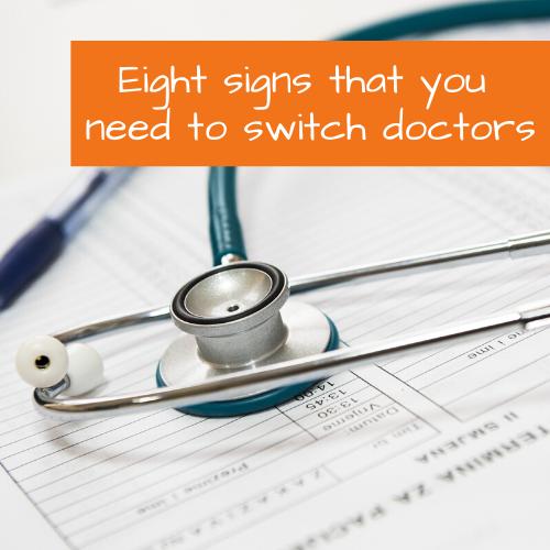 signs its time to switch doctors | FitFiftyandFearless.com | Tracey Bellion