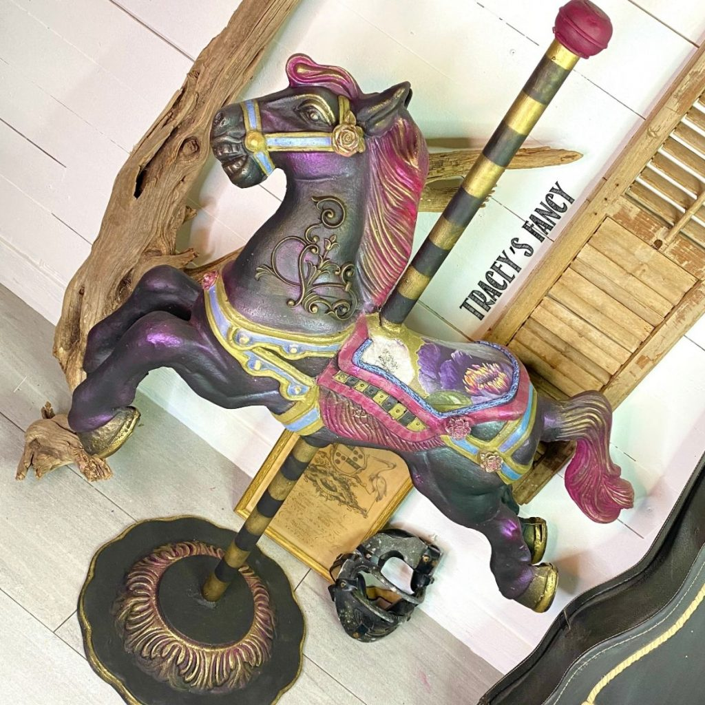 painted carousel horse   Tracey's Fancy