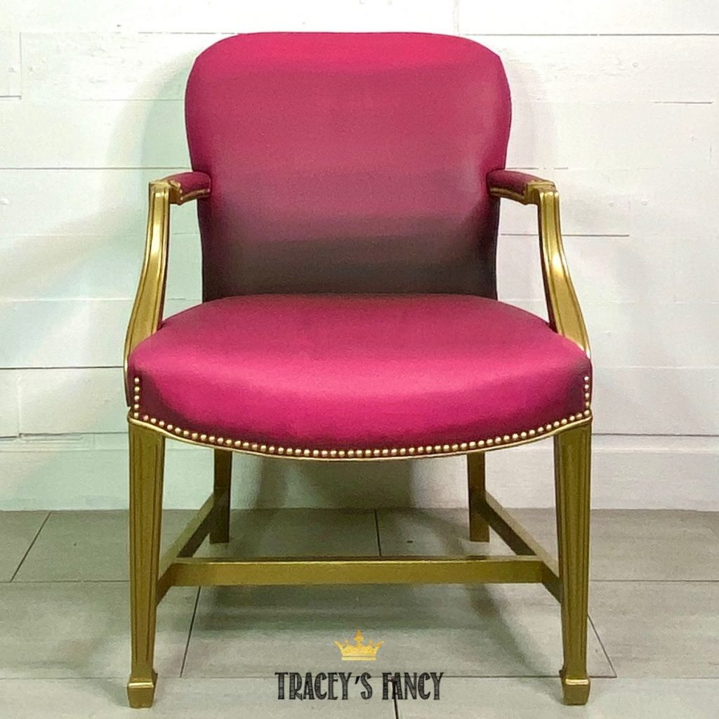 color blended chalk painted leather chair   Tracey's Fancy
