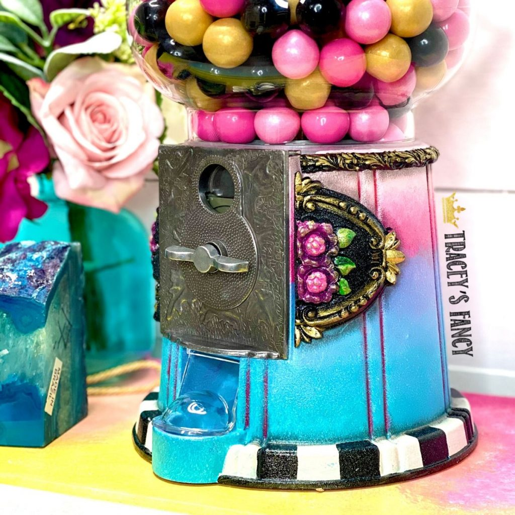 Painted boho gumball machine   Tracey's Fancy