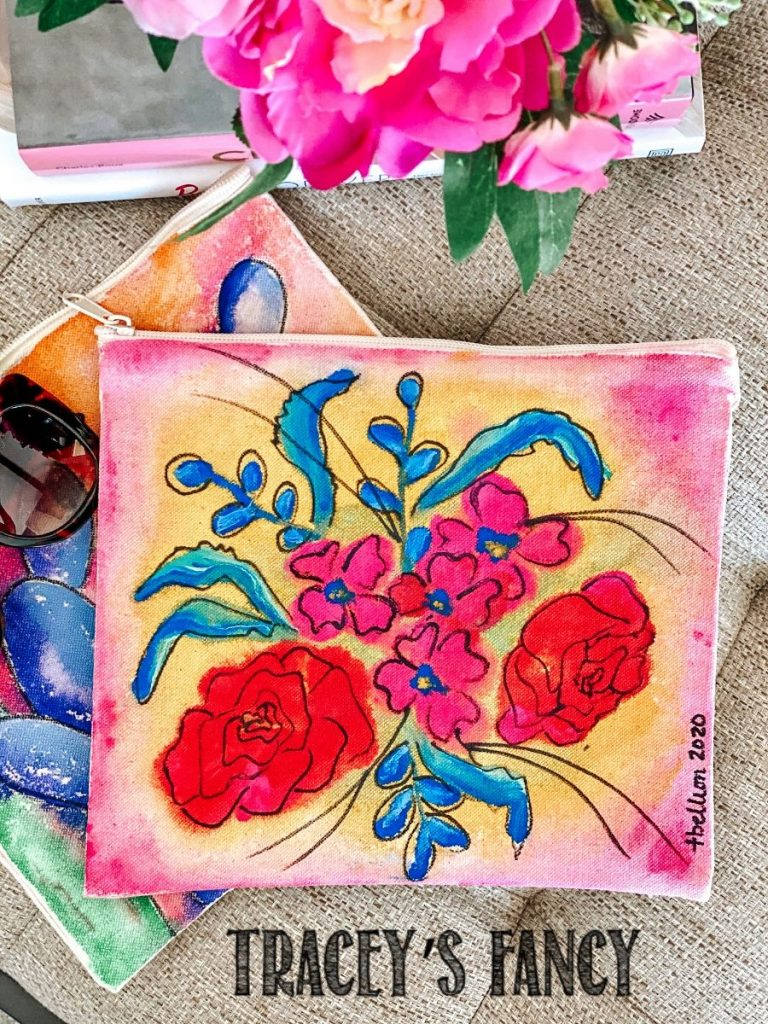 painted canvas bags by Tracey's Fancy