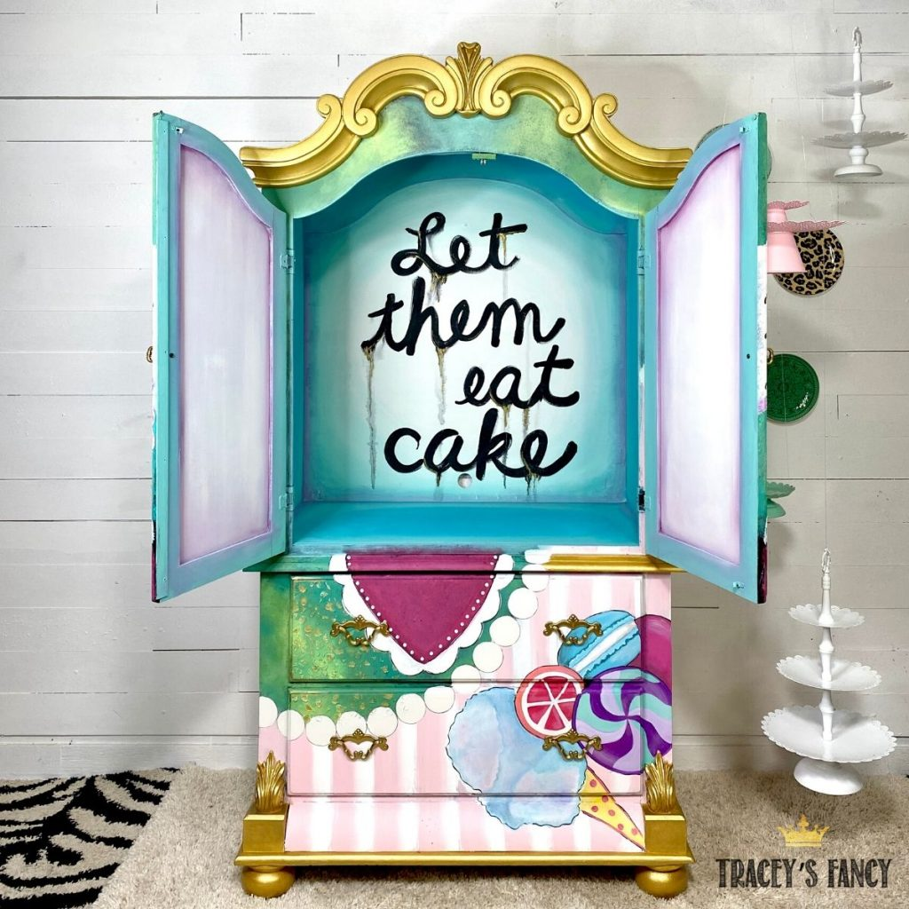 "Maria Antoinette ""let them eat cake"" armoire by Tracey's Fancy"