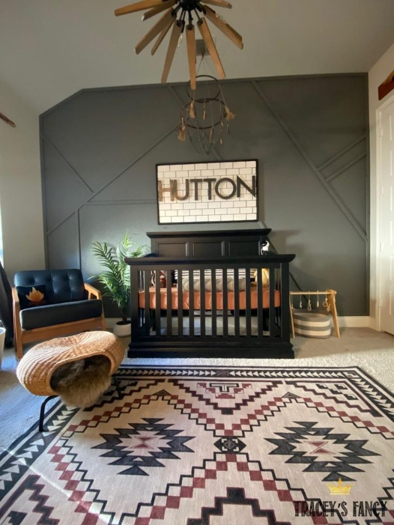 modern nursery with a sophisticated grunge twist by Tracey's Fancy