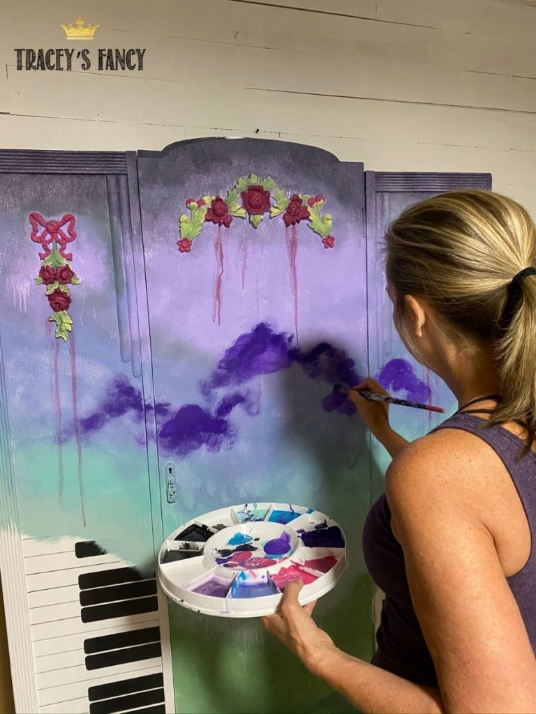 inspirational piano armoire by Tracey's Fancy