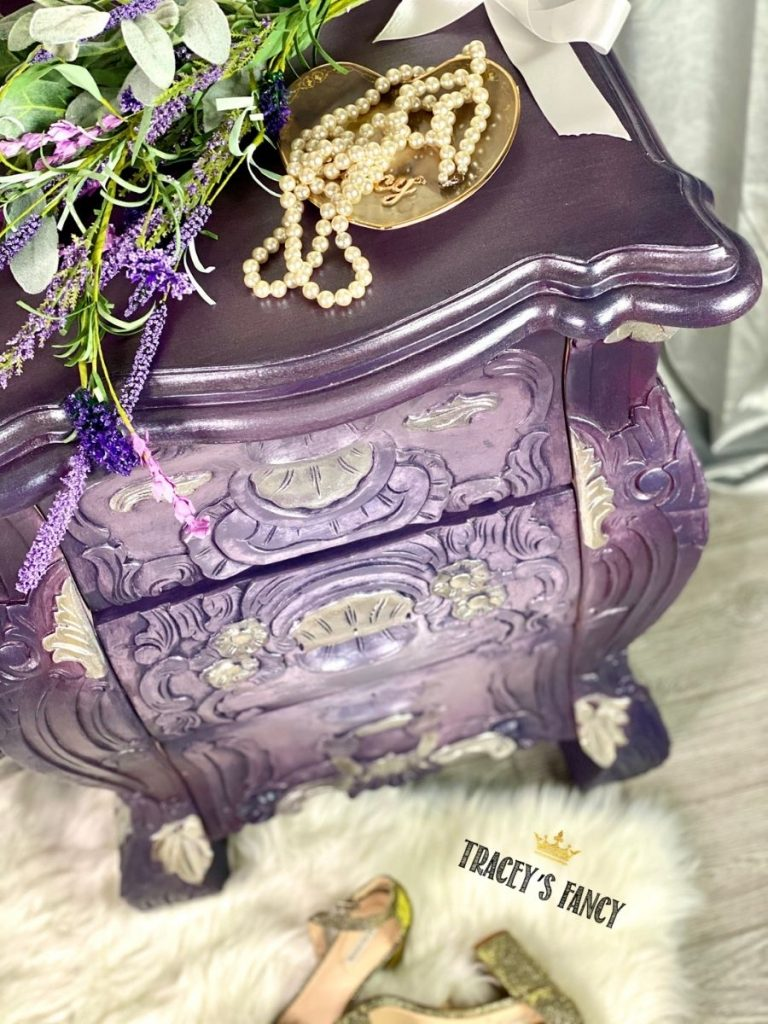 Purple Hollywood glam vanity by Tracey's Fancy