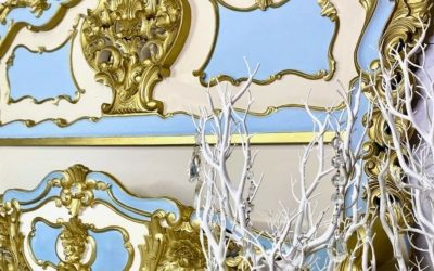 Cinderella bed with stunning gold highlights