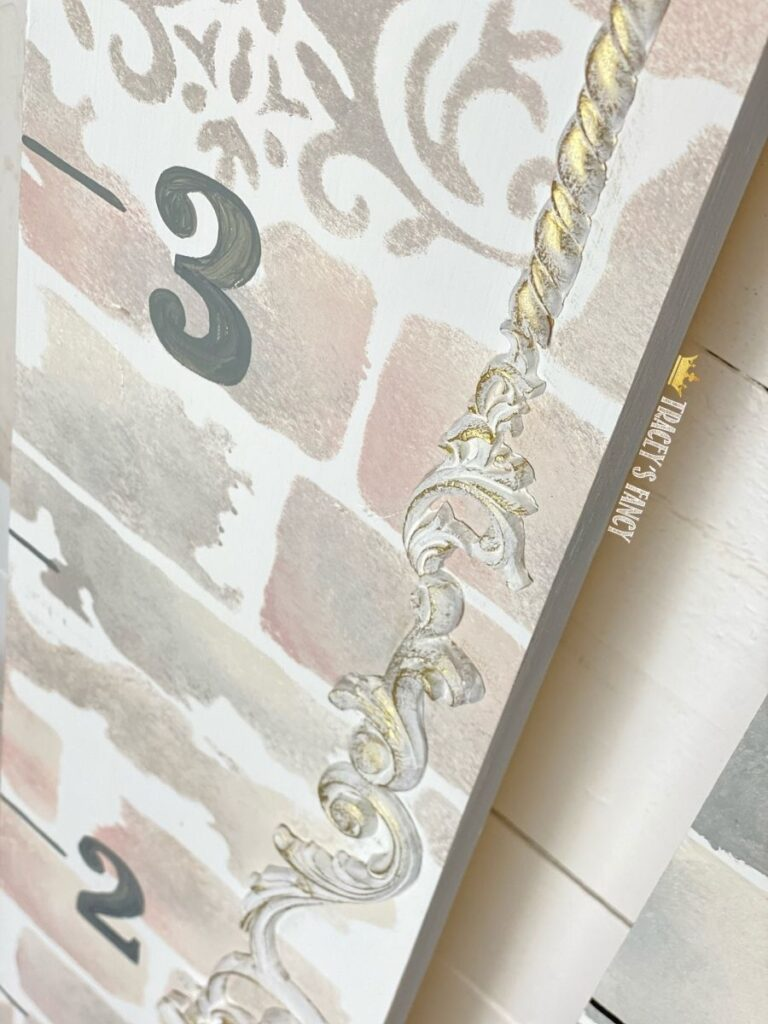 growth chart with feminine vine by Tracey's Fancy