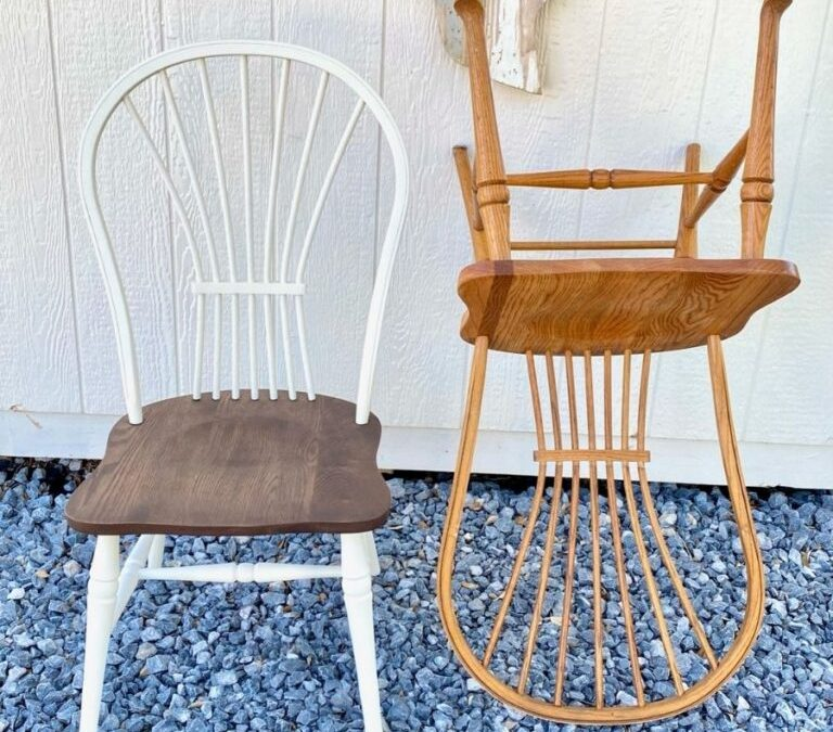 Farmhouse kitchen chairs: goodbye golden oak!